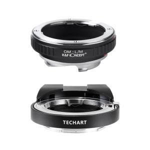 TECHART LM-EA7 + K&F Concept KF-OMM|オリンパスOMレンズ用アダプターセット|stkb