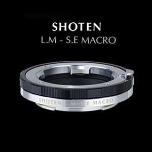 SHOTENマウントアダプター LM-SE M ライカMマウントレンズ - ソニーEマウントカメラ マクロ(ヘリコイド付き) ブラック|stkb