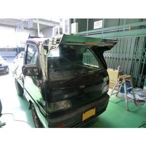 三菱ミニキャブ 軽トラ  フロント バイザー D500 H3.2〜H11.1 stn-art-g-1