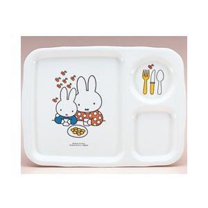 ミッフィー メラミン 子供用 食器/ベビー食器 角ランチ皿 CM-128|stocksquare-plus