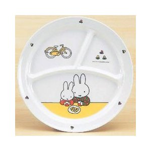 ミッフィー メラミン 子供用 食器/ベビー食器 MIFFY'S BICYCLE 丸ランチ皿 CM-65C|stocksquare-plus