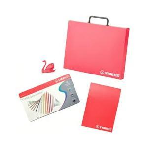 スタビロ 水性 色鉛筆セット 12色いろえんぴつ&A4ブリーフケース&スケッチブック&シャープナー STB0140|stocksquare-plus