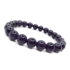 天然石 ブレスレット ブルーゴールドストーン 紫金石 約6mm パワーストーン アクセサリー ハンドメイド|stone-kitchen