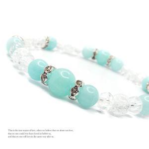 天然石 パワーストーン ブレスレット レディース アクセサリー 手首に咲かせて きらきら Flower アマゾナイト|stone-kitchen