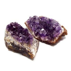 濃紫 天然石 ウルグアイ産 アメジスト ミニクラスター セット 原石 置物 インテリア パワーストーン|stone-kitchen