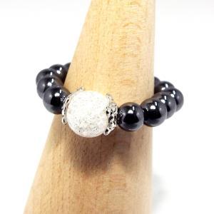 天然石 パワーストーン ヘマタイトリング 指輪 クラック水晶 stone-kitchen