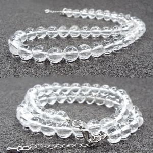 天然石 ネックレス クリスタル 水晶 約6mm パワーストー...