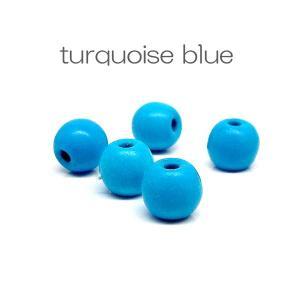 天然石 ビーズ ターコイズ ブルー 練り 約6mm 粒売り パワーストーン ハンドメイド アクセサリー stone-kitchen