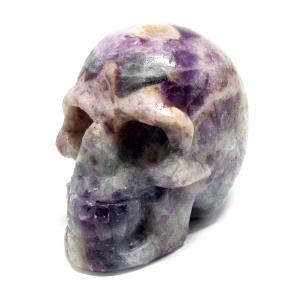 天然石 フローライト 蛍石 ドクロ スカル 髑髏 骸骨 置物 インテリア パワーストーン 天然石|stone-kitchen