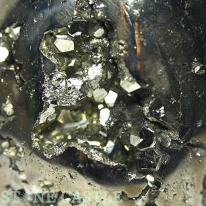 置石一点物 天然石 置き石 パイライト (3A) たまご型 No.06 パワーストーン※DM便・ネコポス不可※|stonecenter