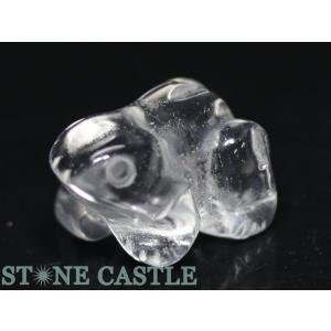 天然石 彫刻置物 カエル約20mm 水晶 パワーストーン stonecenter