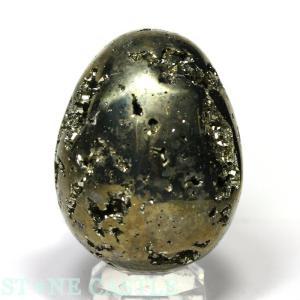 置石一点物 天然石 置き石 パイライト (3A) たまご型 No.15 パワーストーン※DM便・ネコポス不可※|stonecenter