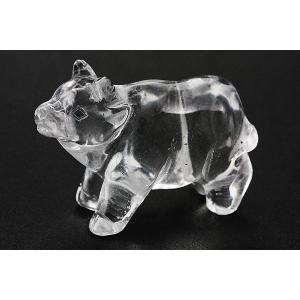 置物 インテリア 彫刻置物 牛 立ち姿 水晶 天然石 パワーストーン stonecenter