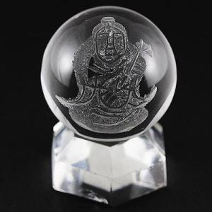 七福神 置物 彫刻置物 彫刻丸玉 七福神 弁財天 (素彫り) 水晶 20mm 天然石 パワーストーン|stonecenter