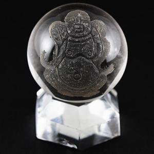 七福神 置物 彫刻置物 彫刻丸玉 七福神 布袋和尚 (素彫り) 水晶 20mm 天然石 パワーストーン|stonecenter