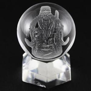 七福神 置物 彫刻置物 彫刻丸玉 七福神 寿老人 (素彫り) 水晶 20mm 天然石 パワーストーン|stonecenter