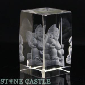 七福神 置物 彫刻置物 人工水晶 恵比寿(レーザー彫刻) 約50×78mm 天然石 パワーストーン※DM便・ネコポス不可※|stonecenter