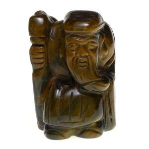 七福神 置物 彫刻置物 七福神 寿老人 (一体・台なし) 天然石 パワーストーン※DM便・ネコポス不可※|stonecenter