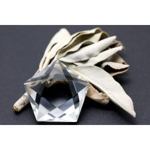 置物 インテリア 置き石 五芒星 水晶 (2A) (天然水晶) 約25mm 天然石 パワーストーン stonecenter