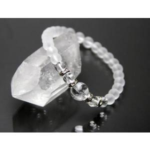 龍馬 フロスト水晶 パワーストーン ブレスレット|stonemagic