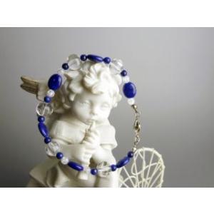 幸運の青いラピスラズリ パワーストーン 天然石 ブレスレット|stonemagic