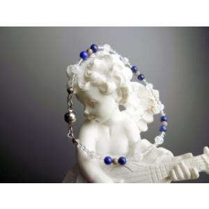 細くてかわいい ラピスラズリ パワーストーン ブレスレット 手首まわり 15cm|stonemagic