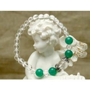 Lサイズ 癒しの緑のアベンチュリン パワーストーン 天然石 ブレスレット|stonemagic
