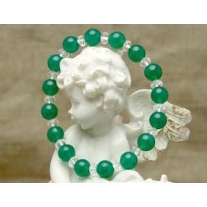 Lサイズ 健康運の緑のアベンチュリン パワーストーン 天然石 ブレスレット |stonemagic