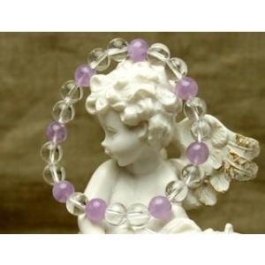 Lサイズ 紫色のラベンダーアメジスト パワーストーン ブレスレット|stonemagic