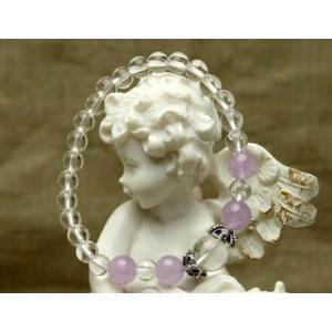 Lサイズ やさしい紫色のラベンダアメジスト パワーストーン ブレスレット |stonemagic