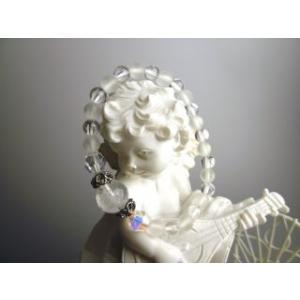 幸運の水晶 天使のパワーストーン 天然石 ブレスレット|stonemagic