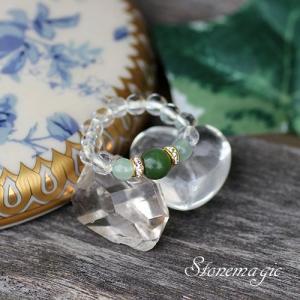 ヒスイ・ アベンチュリン パワーストーン リング 指輪  モンプティ  5月の誕生石|stonemagic