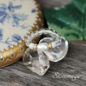真珠 パール マザーオブパール パワーストーン リング 指輪 モンプティ 6月の誕生石  |stonemagic