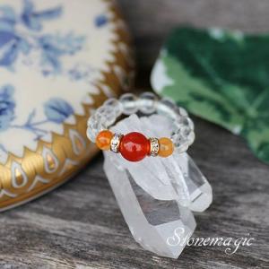 カーネリアン パワーストーン リング 指輪 モンプティ  7月の誕生石 |stonemagic