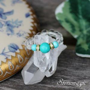 ターコイズ  パワーストーン リング 指輪 かわいい モンプティ  12月の誕生石 |stonemagic