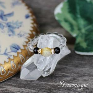 ルチルクォーツ  パワーストーン リング 指輪 かわいいモンプティ  |stonemagic