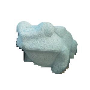 かえる 白御影 2尺 無事蛙石材彫刻品 カエルのストーン置物 石製品|stoneyamagishi5