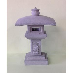 石灯篭 ミニ 勧修寺灯籠 彫刻入り かんしゅうじとうろう 超ミニ 御影石製 5寸|stoneyamagishi5