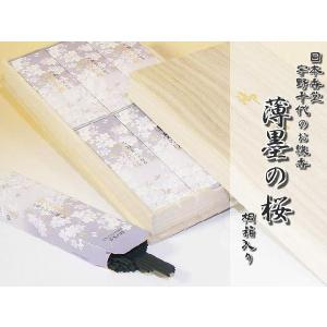 宇野千代のお線香 「淡墨の桜」 桐箱サック6入の商品画像