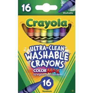 クレヨラ お絵かき 水でおとせるクレヨン 16色 Ultra Clean Washable Crayons 526916|stonline