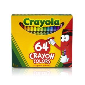 クレヨラ お絵かき クレヨン 64色 シャープナー付き Crayons 520064|stonline