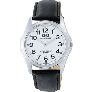 [シチズン キューアンドキュー]CITIZEN Q&Q 腕時計 SOLARMATE (ソーラーメイト) ソーラー電源 アナログ表示 5気圧防水 ホワイト H008-304 メンズ|stonline