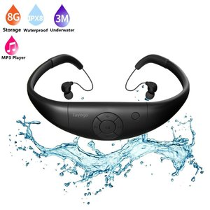 Tayogo ヘッドホン一体型 防水MP3プレーヤー 8GBメモリー スポーツイヤホン 水泳 ランニング 国際防水等級IPX8 WPM8 ブラック stonline