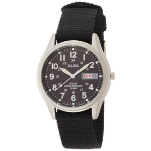 [アルバ]ALBA 腕時計 ソーラー 日付・曜日表示付き ハードレックス ナイロンバンド 10気圧防水 AEFD557 メンズ|stonline