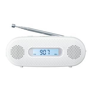 パナソニック ラジオ FM/AM/ワイドFM対応 手回し充電対応 ホワイト RF-TJ20-W stonline