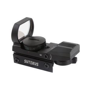 Sutekus 【1年間保証】マルチドット 照準器 ドットサイト 2色 4パターン 20mmレール規格対応[正規品] (照準器本体のみ)|stonline