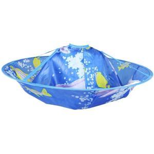 Syula おうちで 子供用ヘアカット ケープ 散髪ケープ 可愛い ブルー|stonline