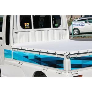 軽トラック用 キャリア・デコレーションシート 三角模様 ブルー -|stonline