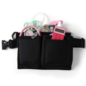 Cat&Green ナースポーチ ナースバッグ ウエストポーチ 手指消毒液 ポケットバッグ 2色(黒)|stonline