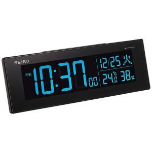 セイコークロック 置き時計 01:黒 本体サイズ:7.3×22.2×4.4cm 電波 デジタル 交流式 カラー液晶 シリーズC3 値札なし BC406K stonline